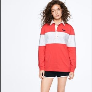 Victoria's secret rugby tee Long sleeve
